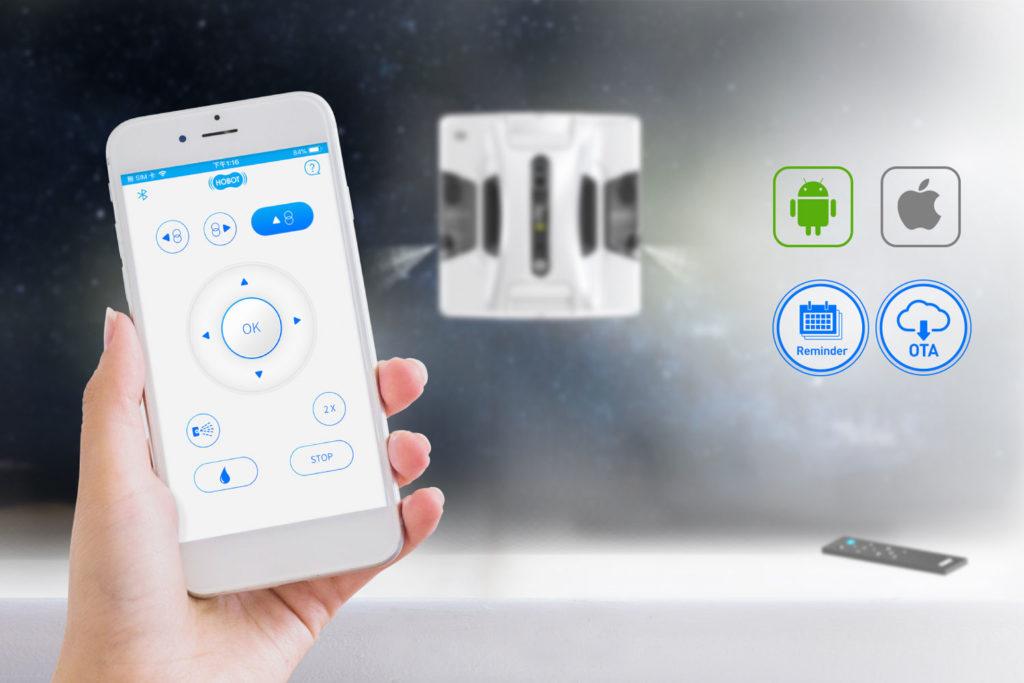 Čistič oken HOBOT 2S ovládání chytrým telefonem